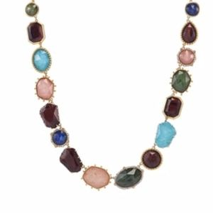 PERFECTLY IMPERFECT NECKLACE W/SEMIPRECIOUS STONES